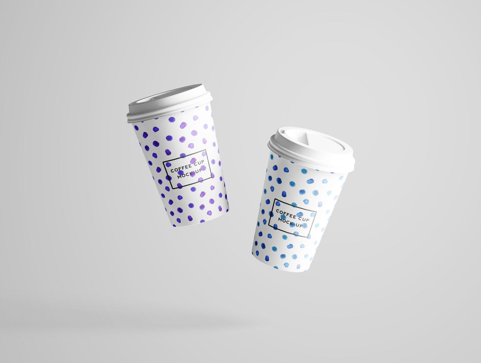 Coffee Cup Mockup - Floating