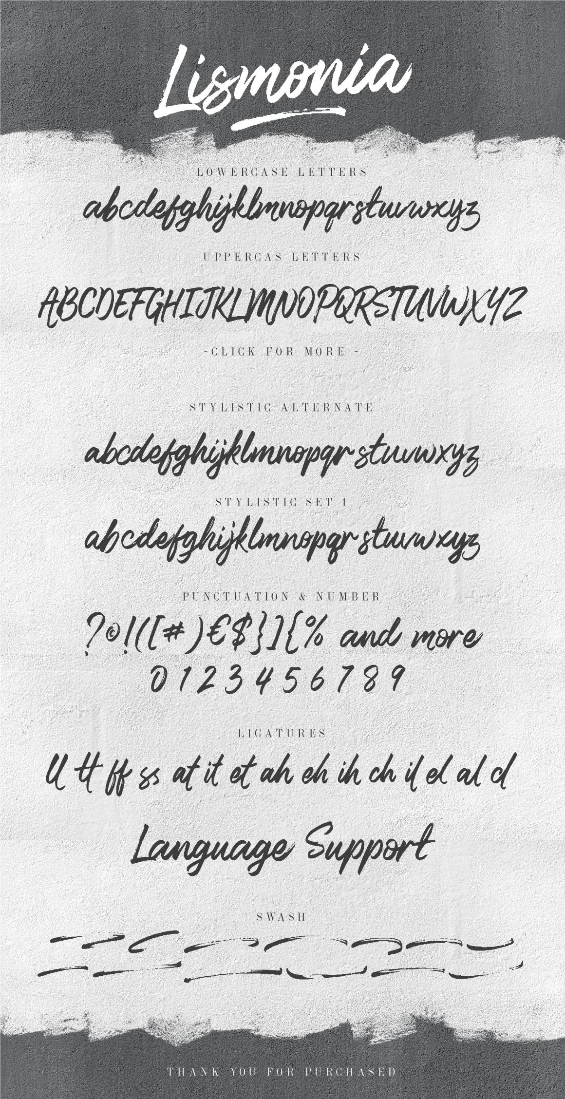 Lismonia Signature Font