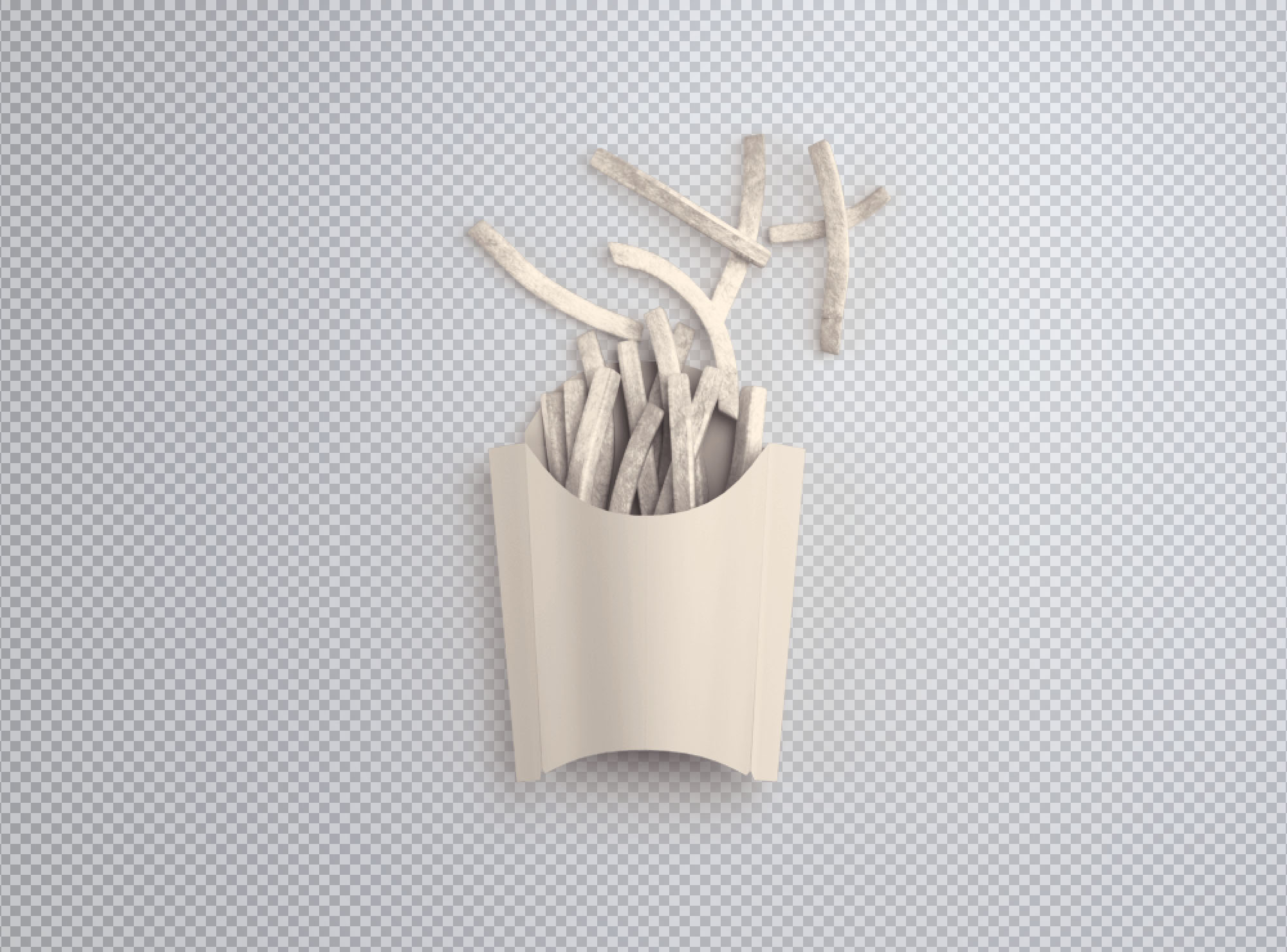 Fries Box Mockup - Blank