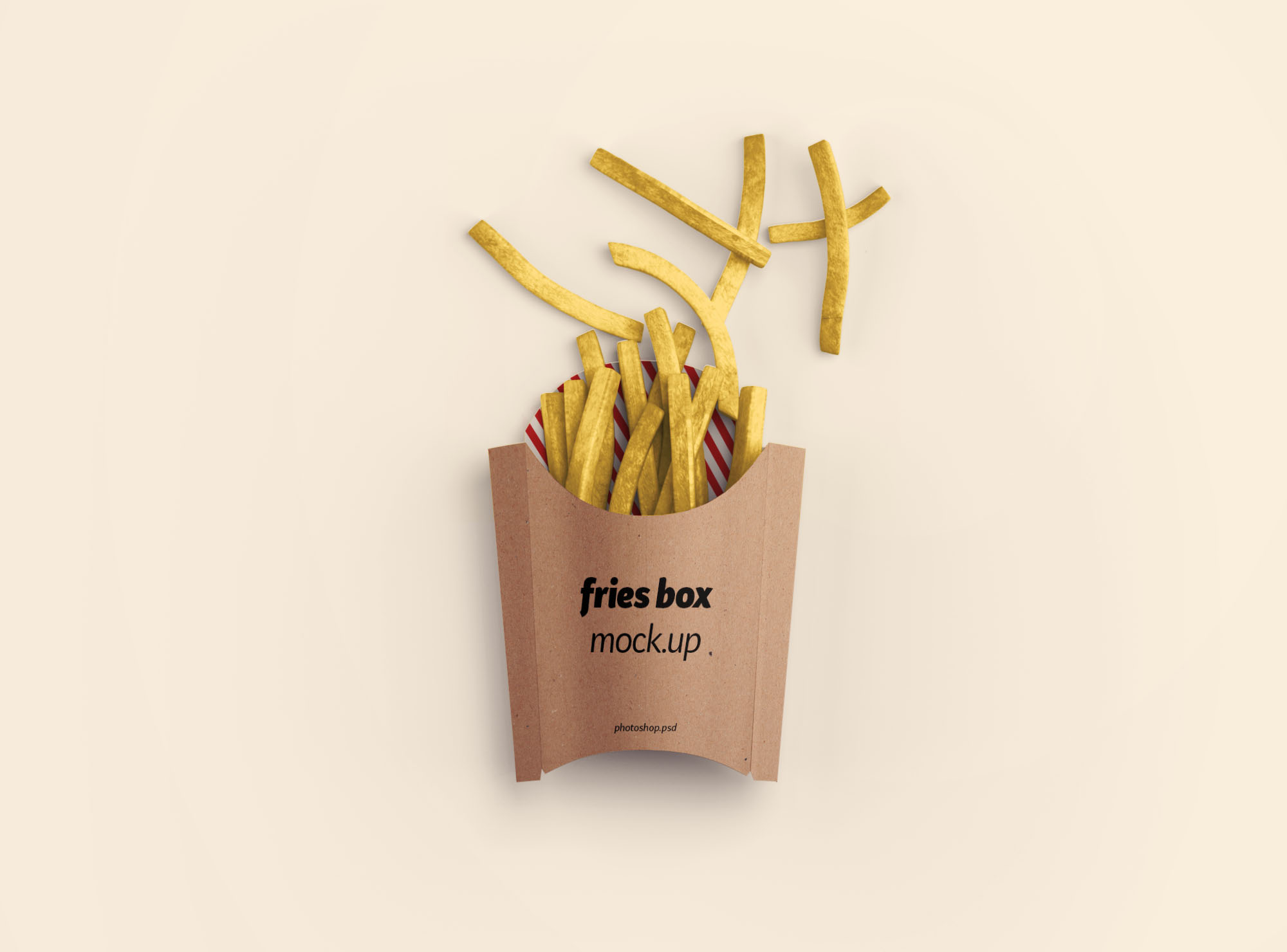 Fries Box Mockup