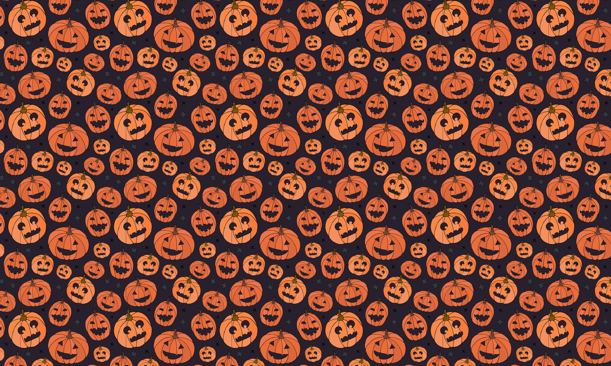 Halloween Hand Drawn Vector Elements & Patterns