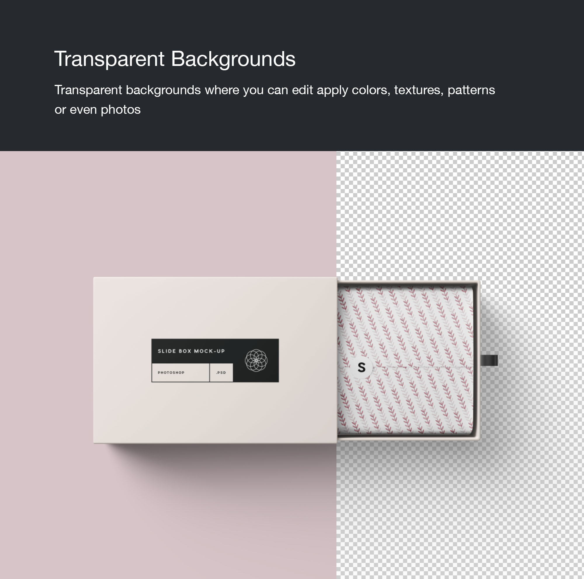 Rectangle Slide Box Mockup
