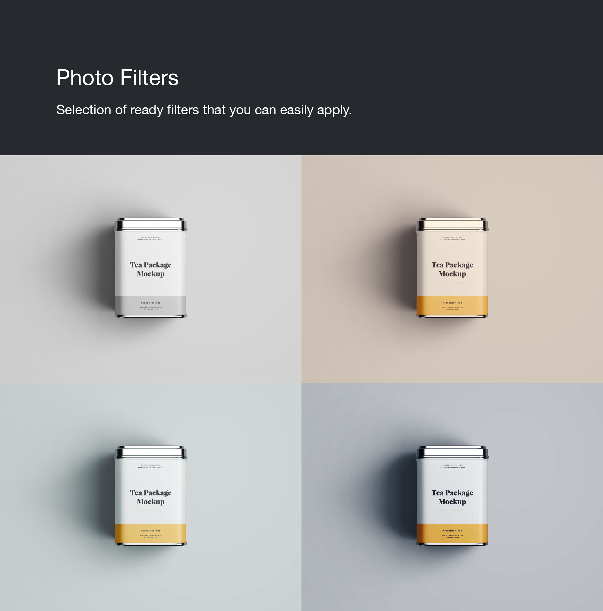 Tea Package Mockup - Filters