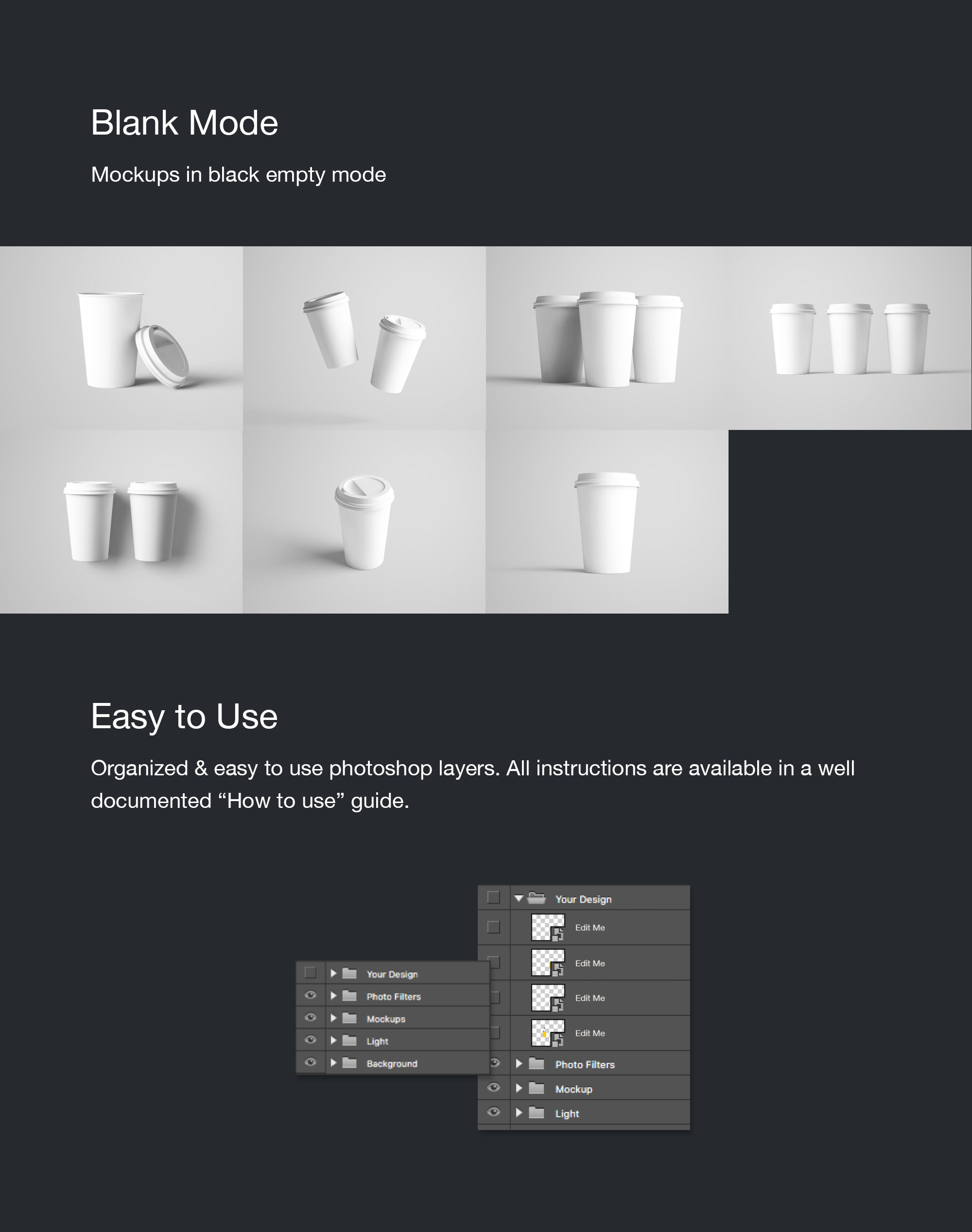 Coffee Cup Mockup - Empty