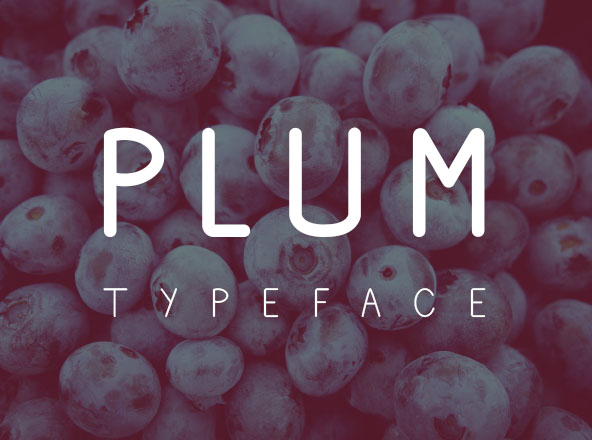 Plum Fun Typeface