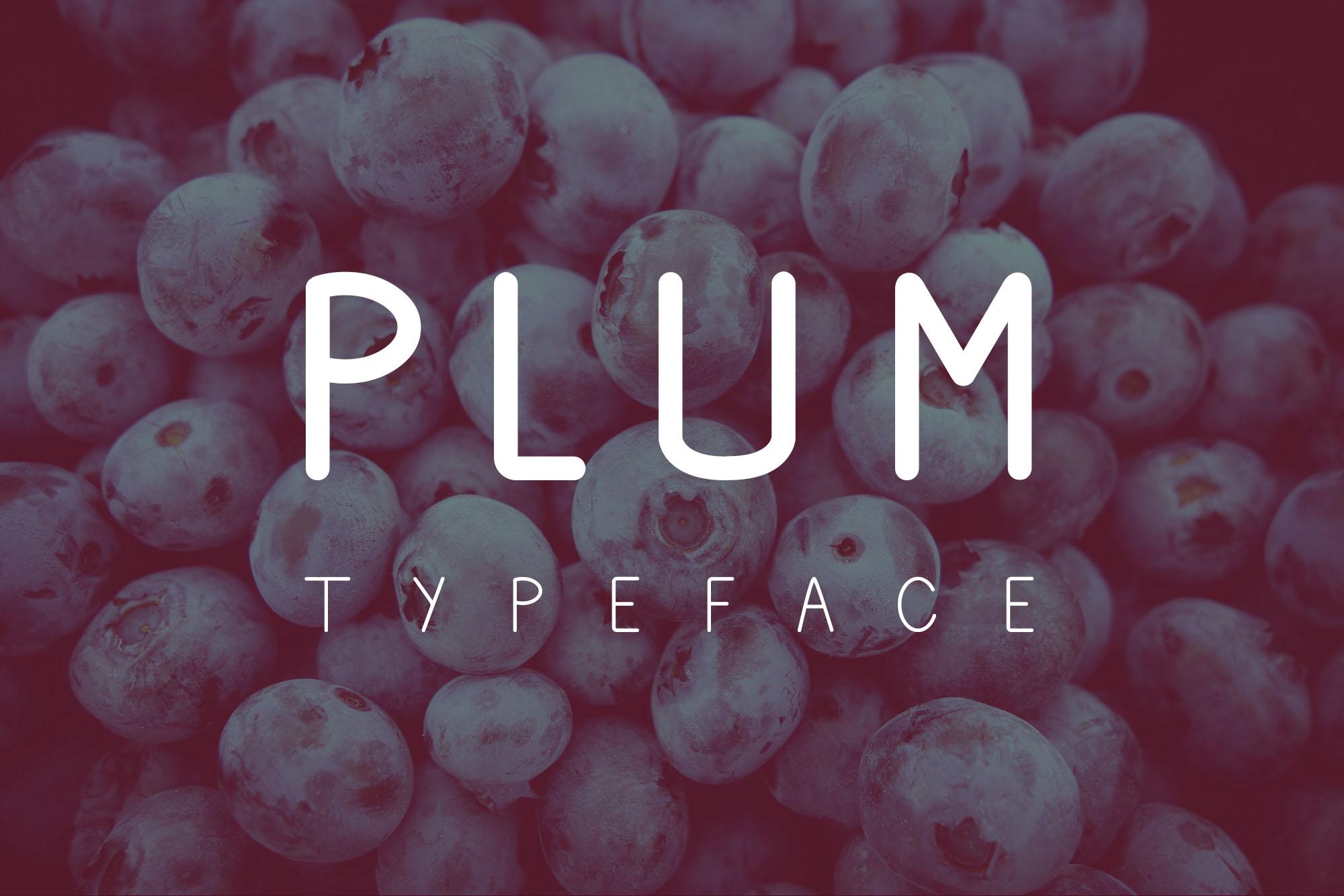 Plum Typeface