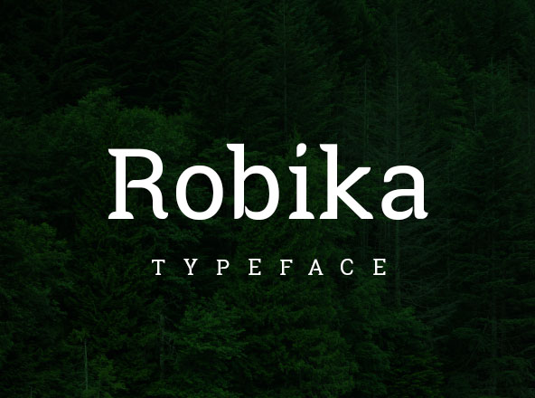 Robika Typeface