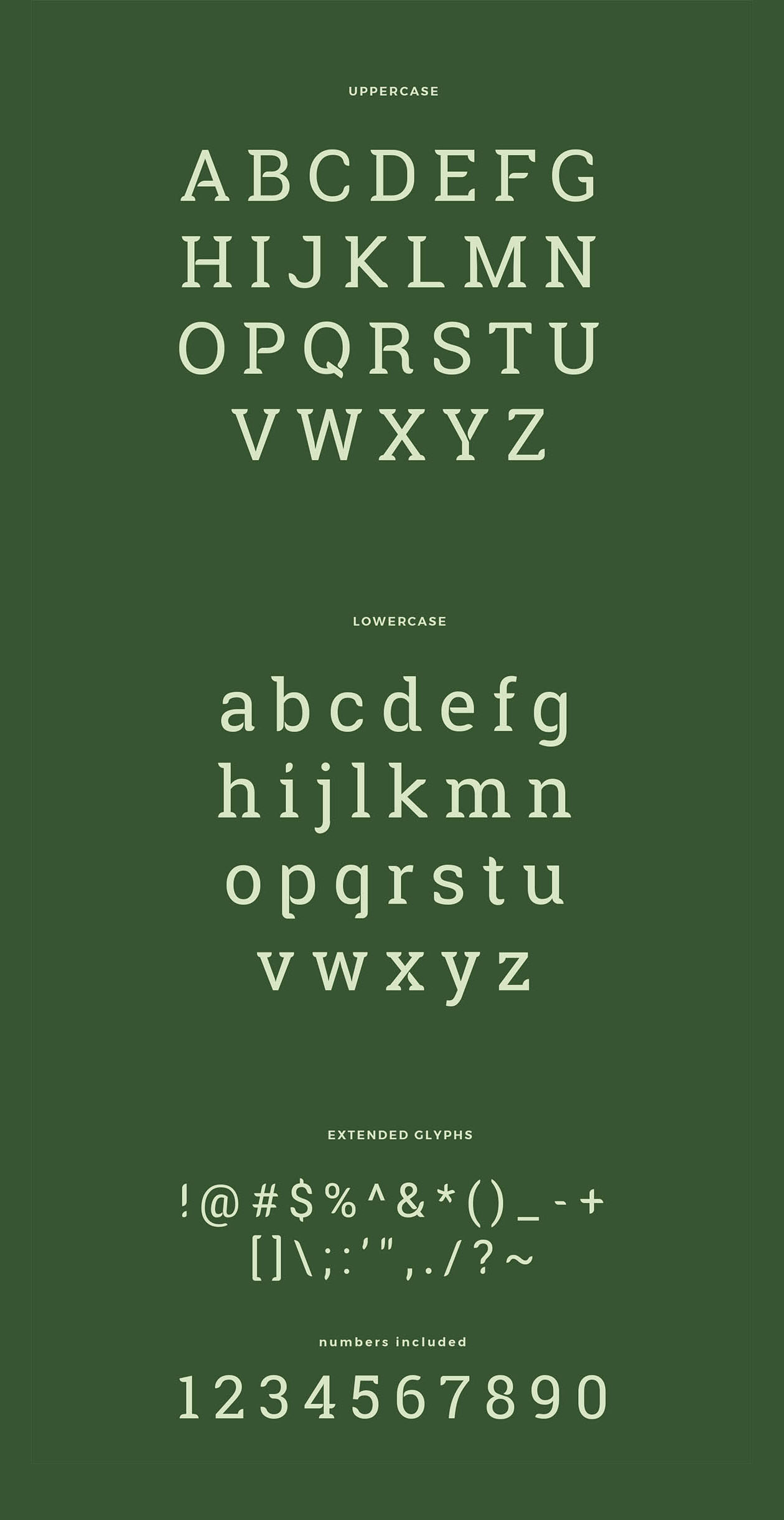 Robika Typeface - letters