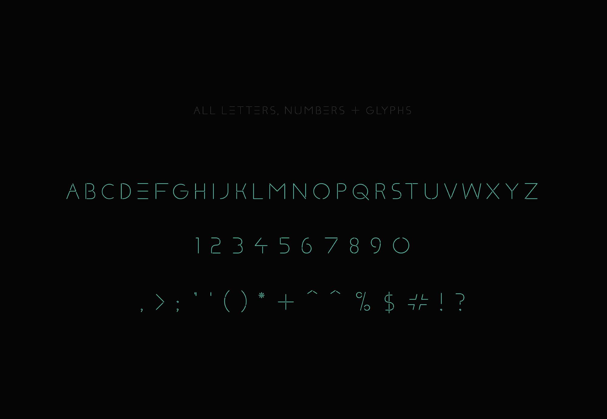 Klaxons Font - Letters