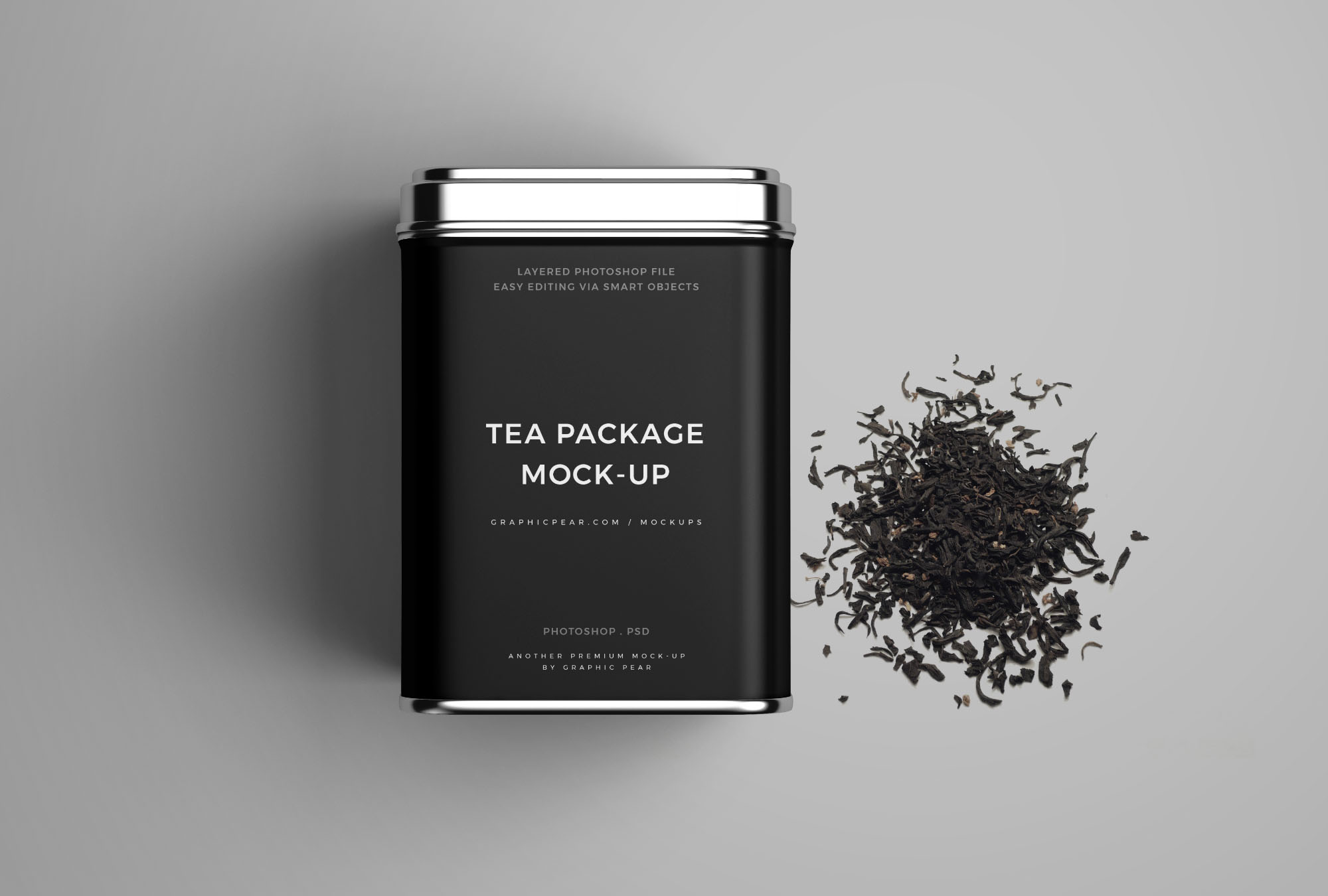 Tea package with dry tea