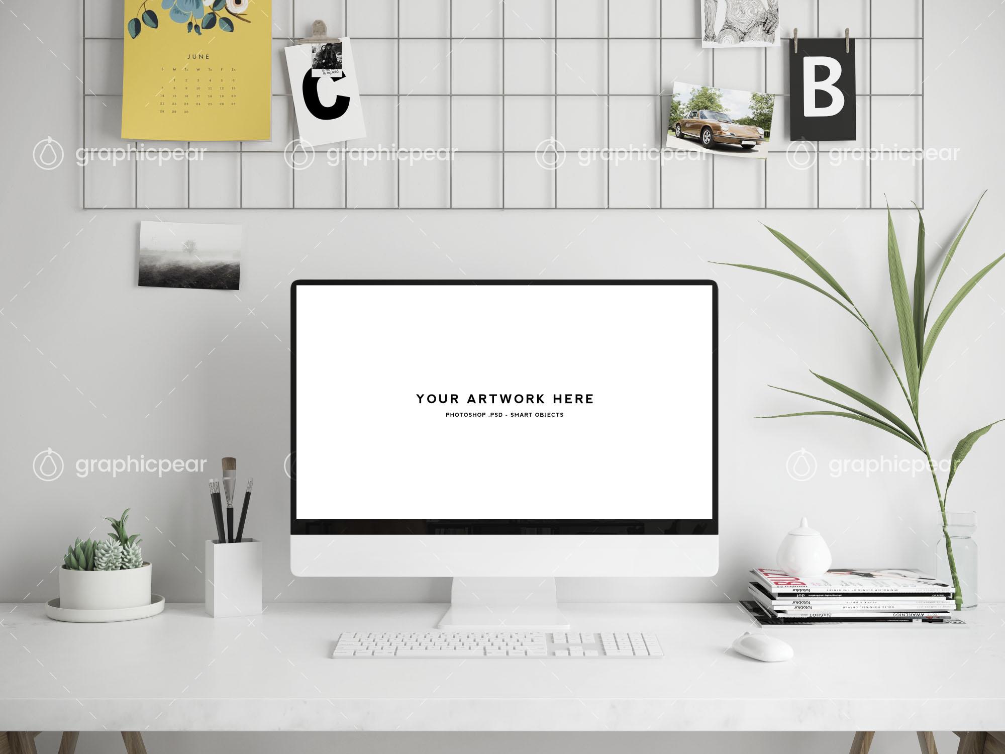 Workspace Mockup - Mac Screen