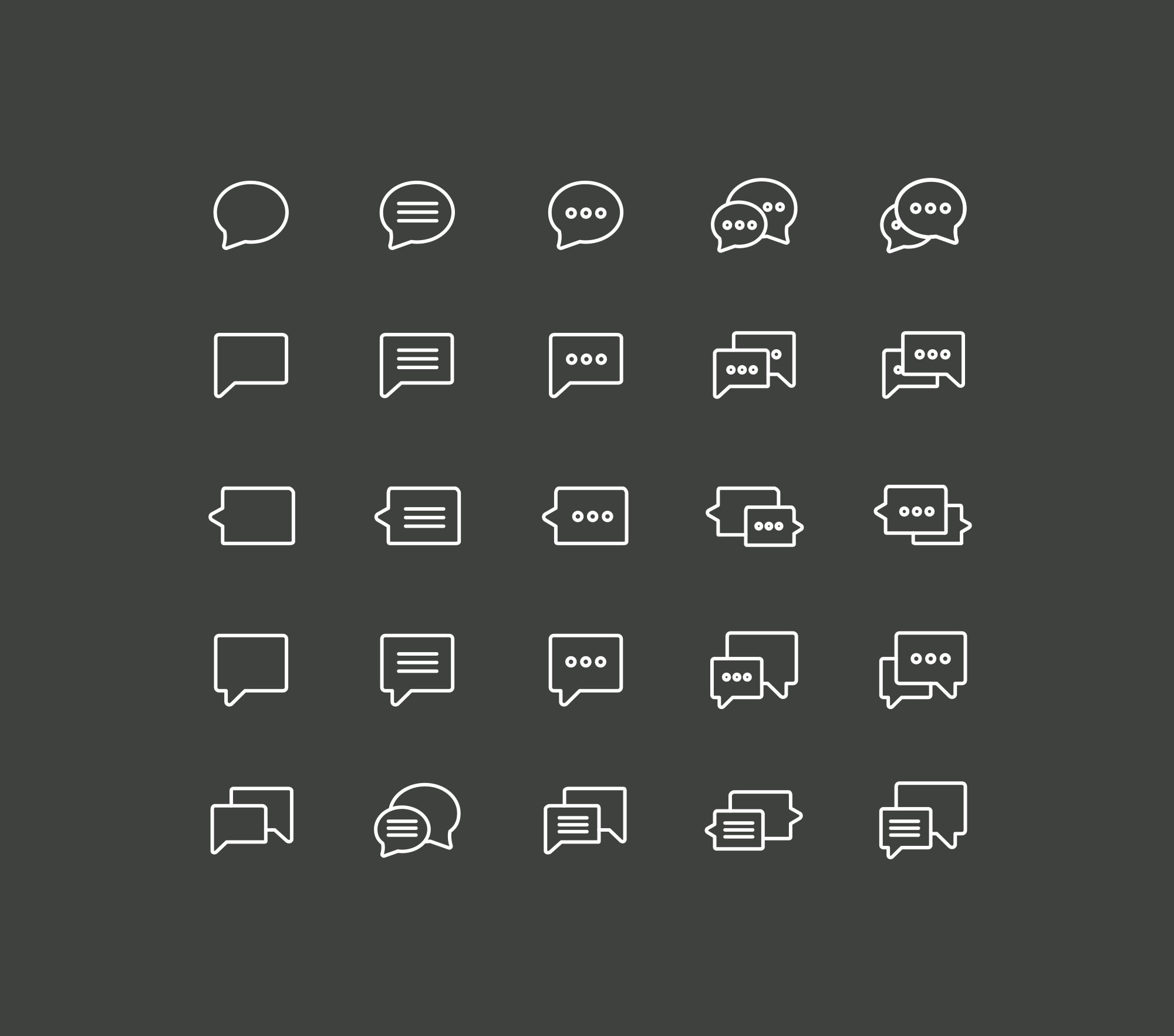 Chat Icons - Dark