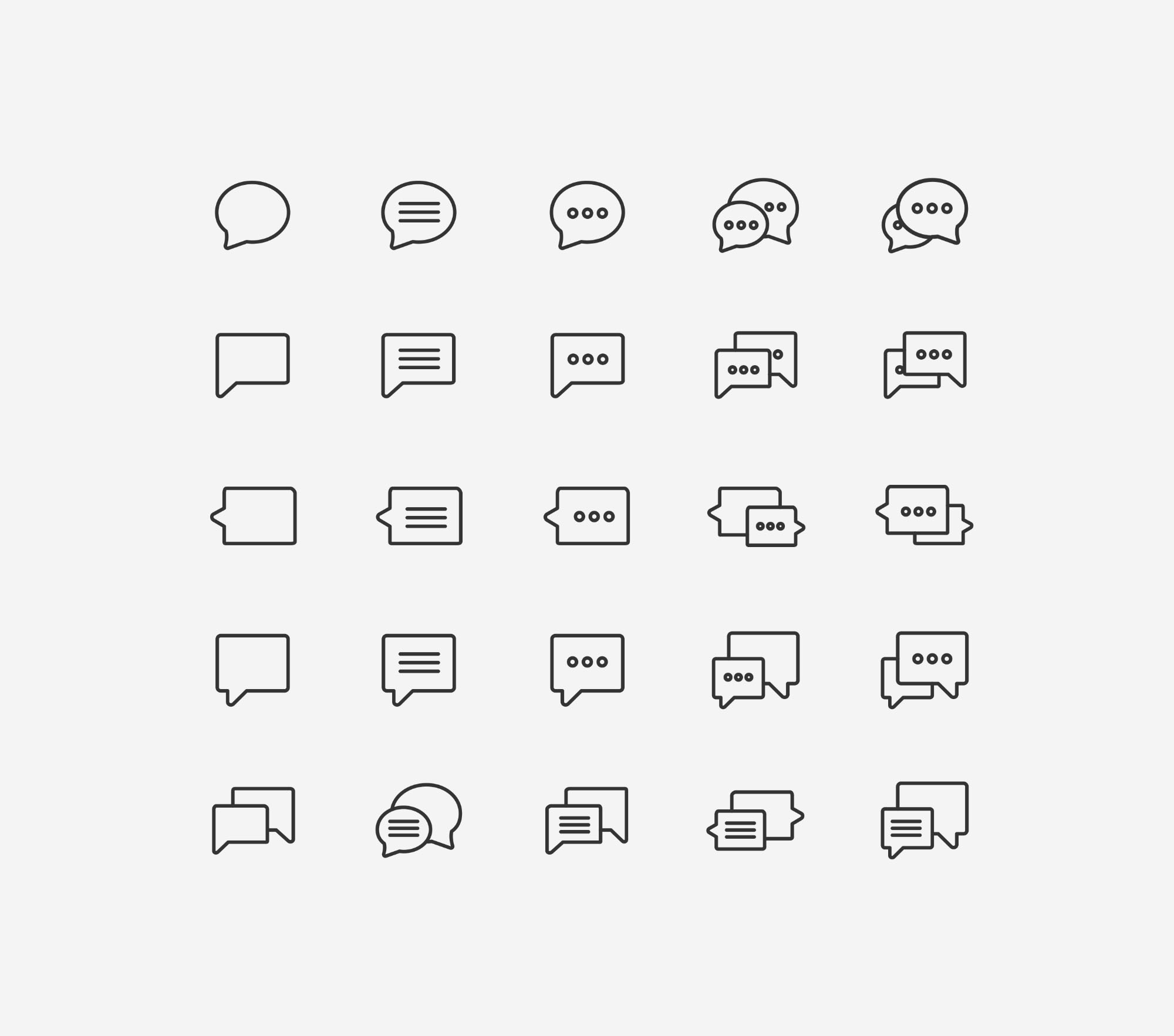 Chat Icons - Light