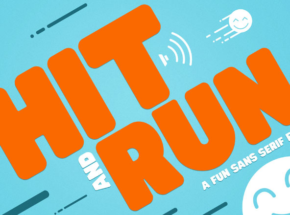 Hit and Run Fun Sans Serif Font