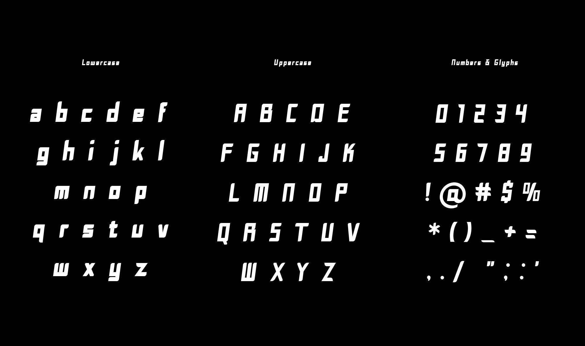 Tempo Font Letters