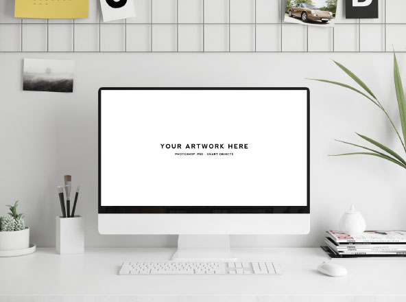 Workspace Mockup - Mac Screen
