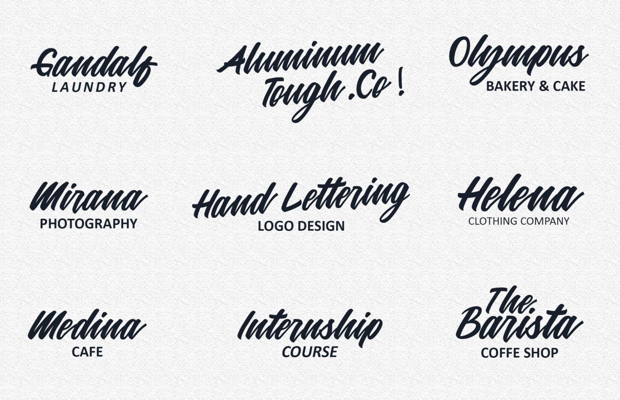 Mattilda Script Font Logos