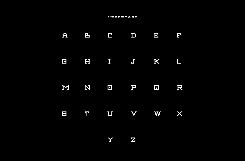 Aexkon Typeface - Uppercase