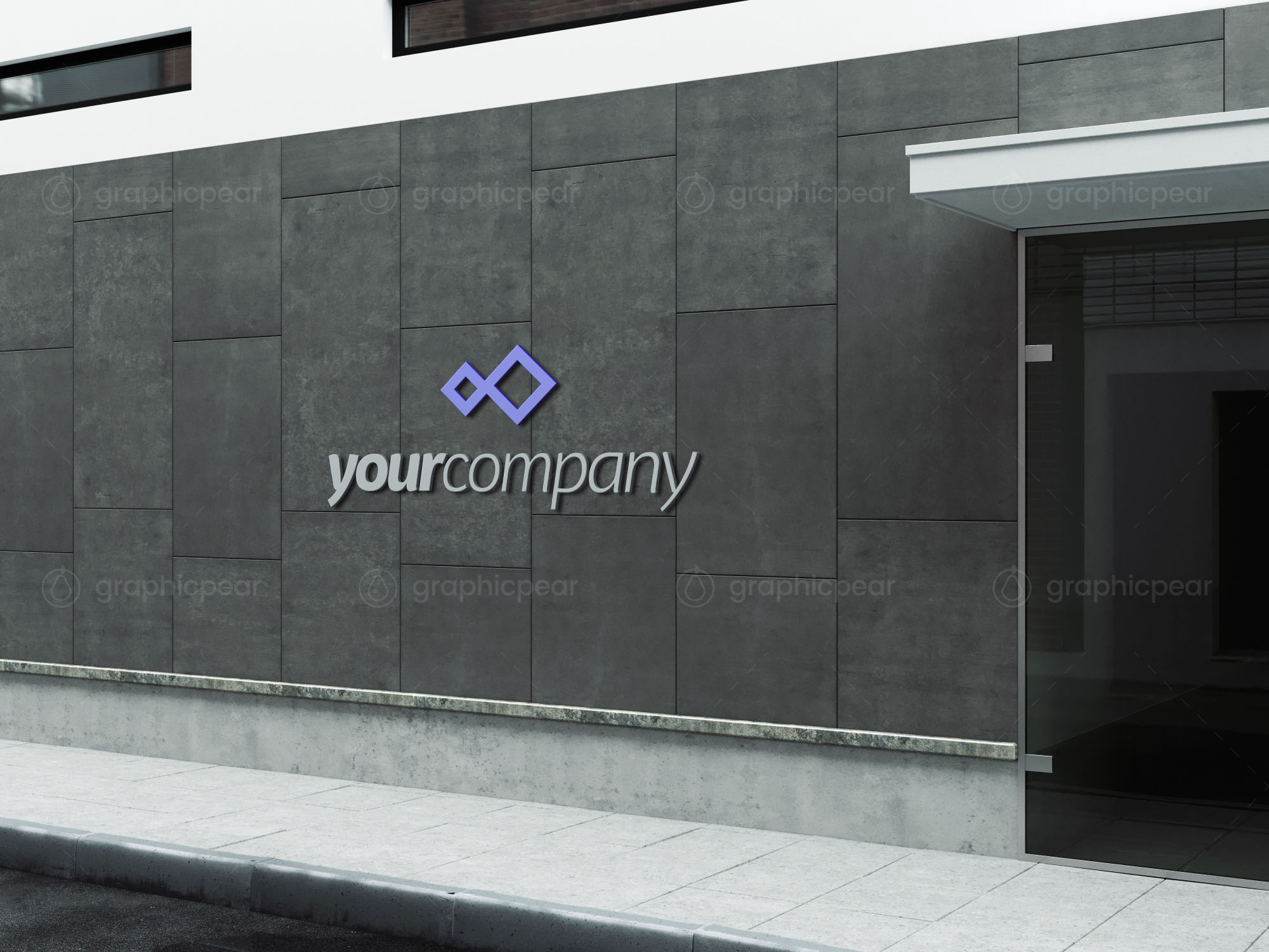 Company Building Sign Mockup