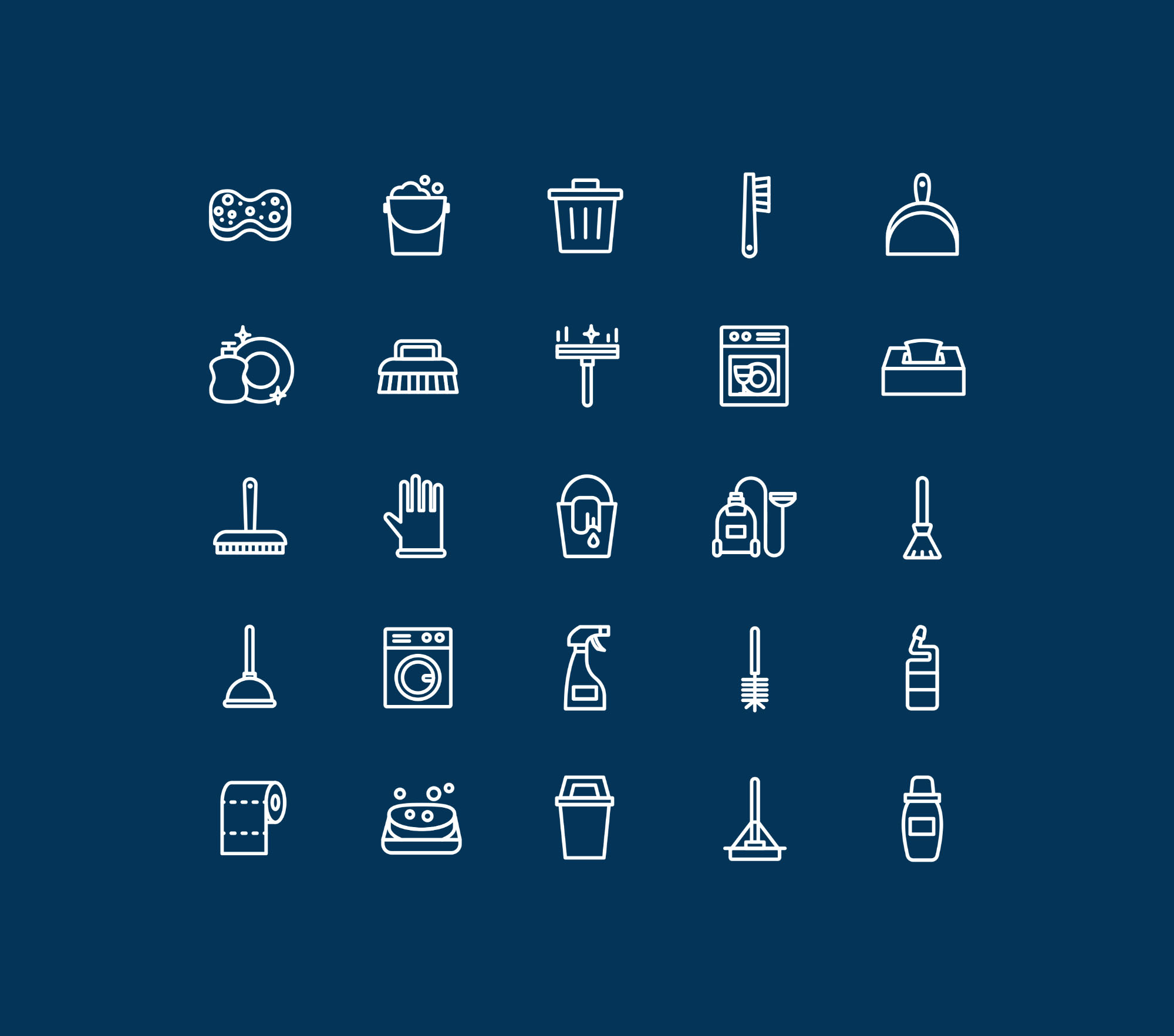 Cleaning Icons - Dark