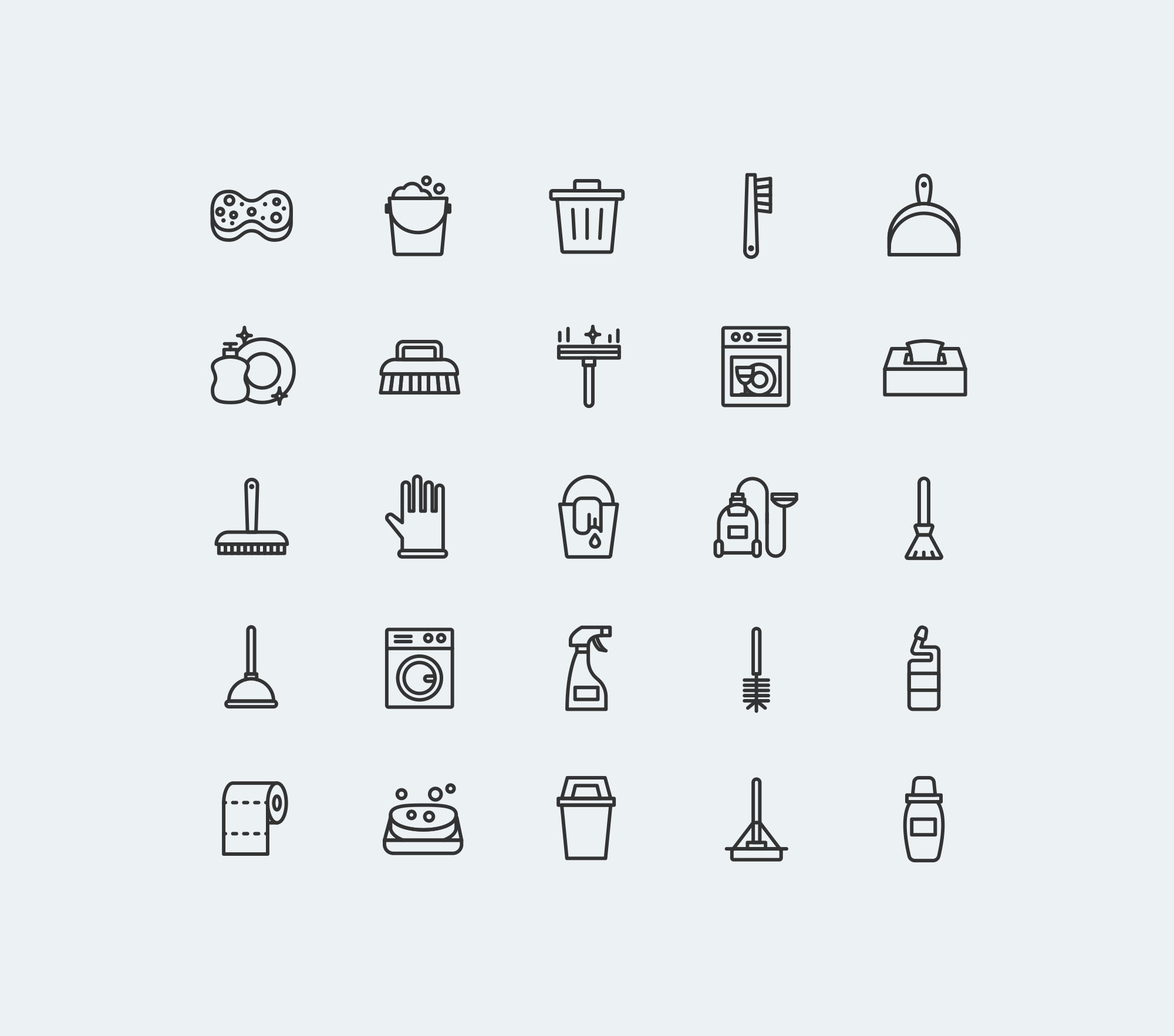 Cleaning Icons - Light