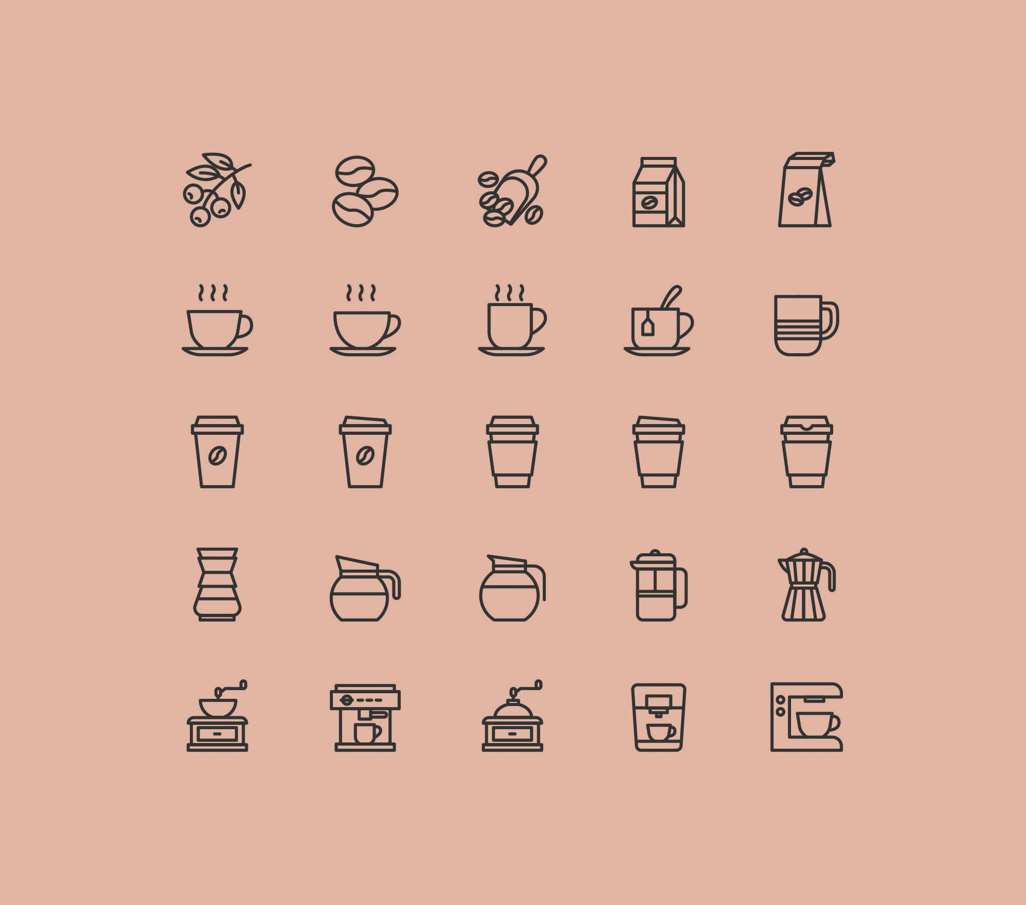 Coffee Icons - Colored