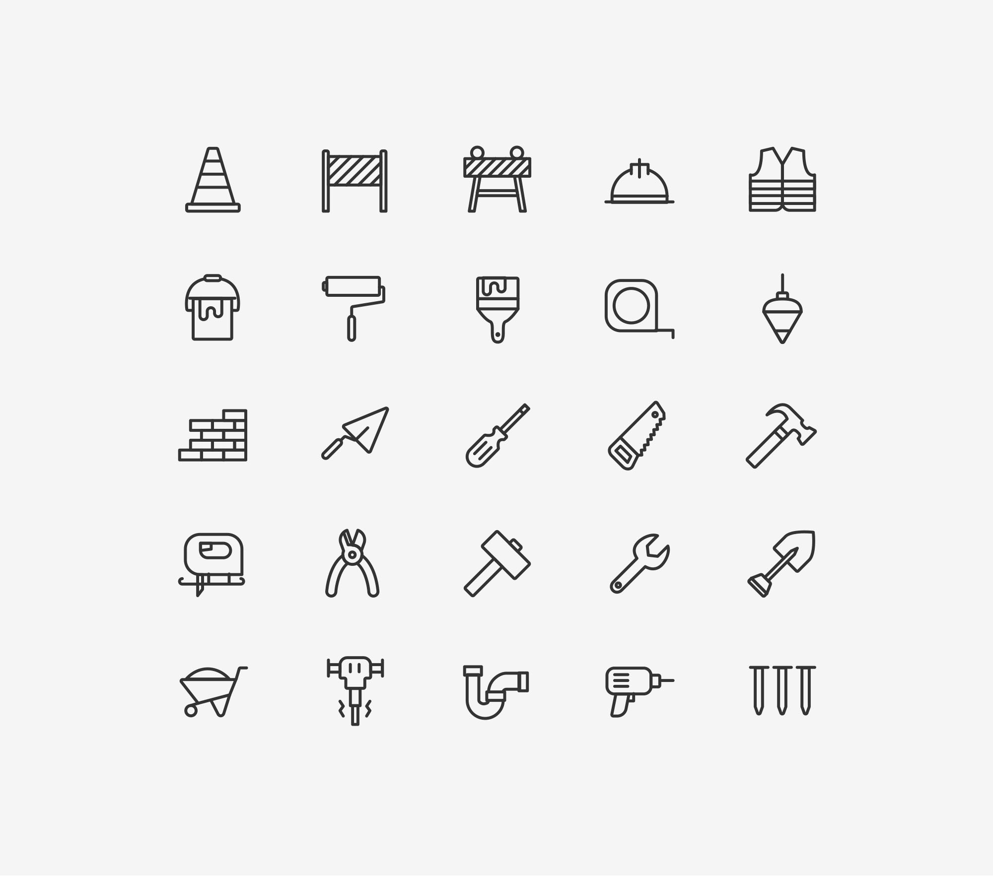 Construction Icons - Light