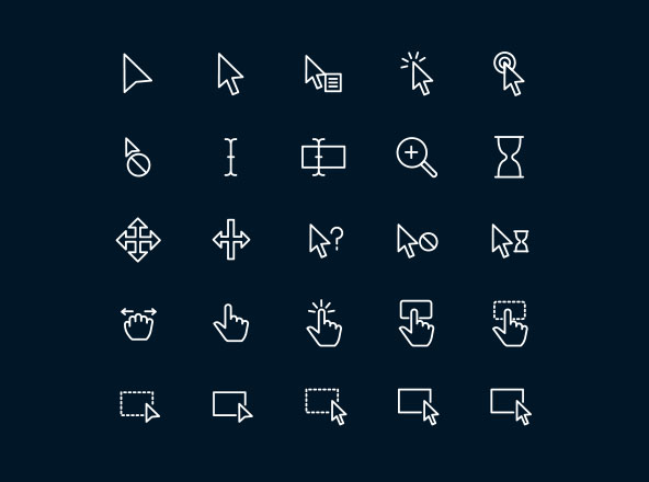 Cursor & Selection Icons