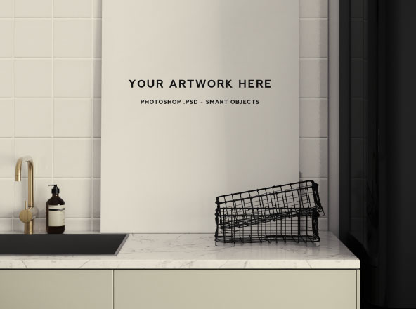 Kitchen Scene Poster Mockup