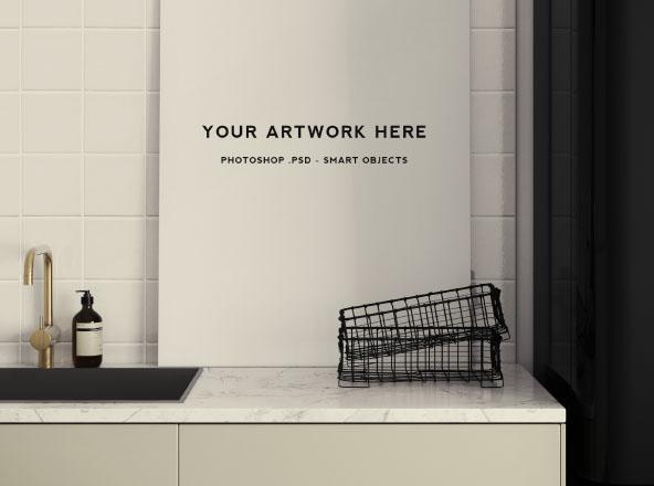 Kitchen Scene Poster Mockup