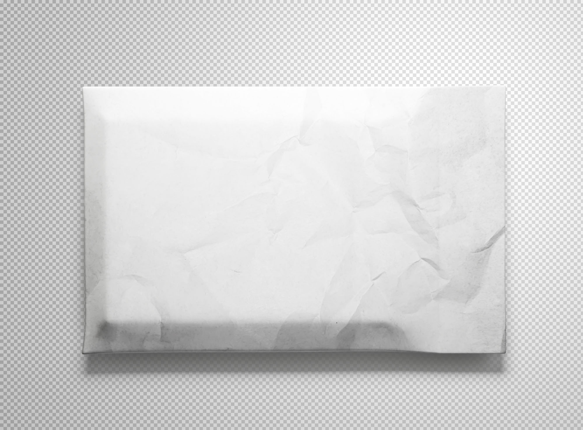 Envelope Package Mockup White