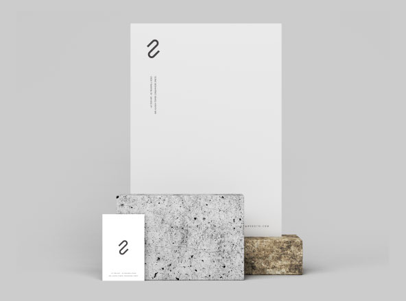 Letterhead & Business Card Branding Mockup