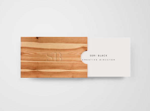 Wooden Business Card Mockup