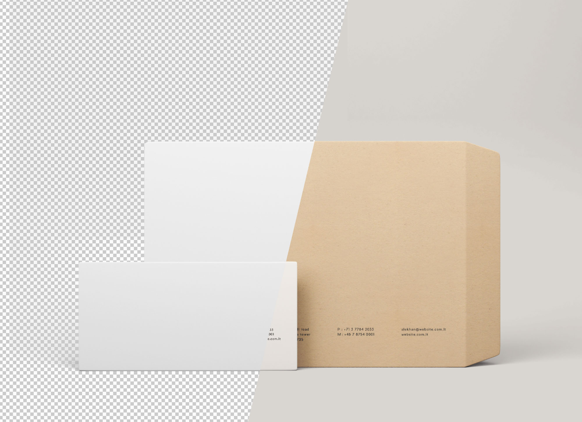Envelope Mockups - Transparent