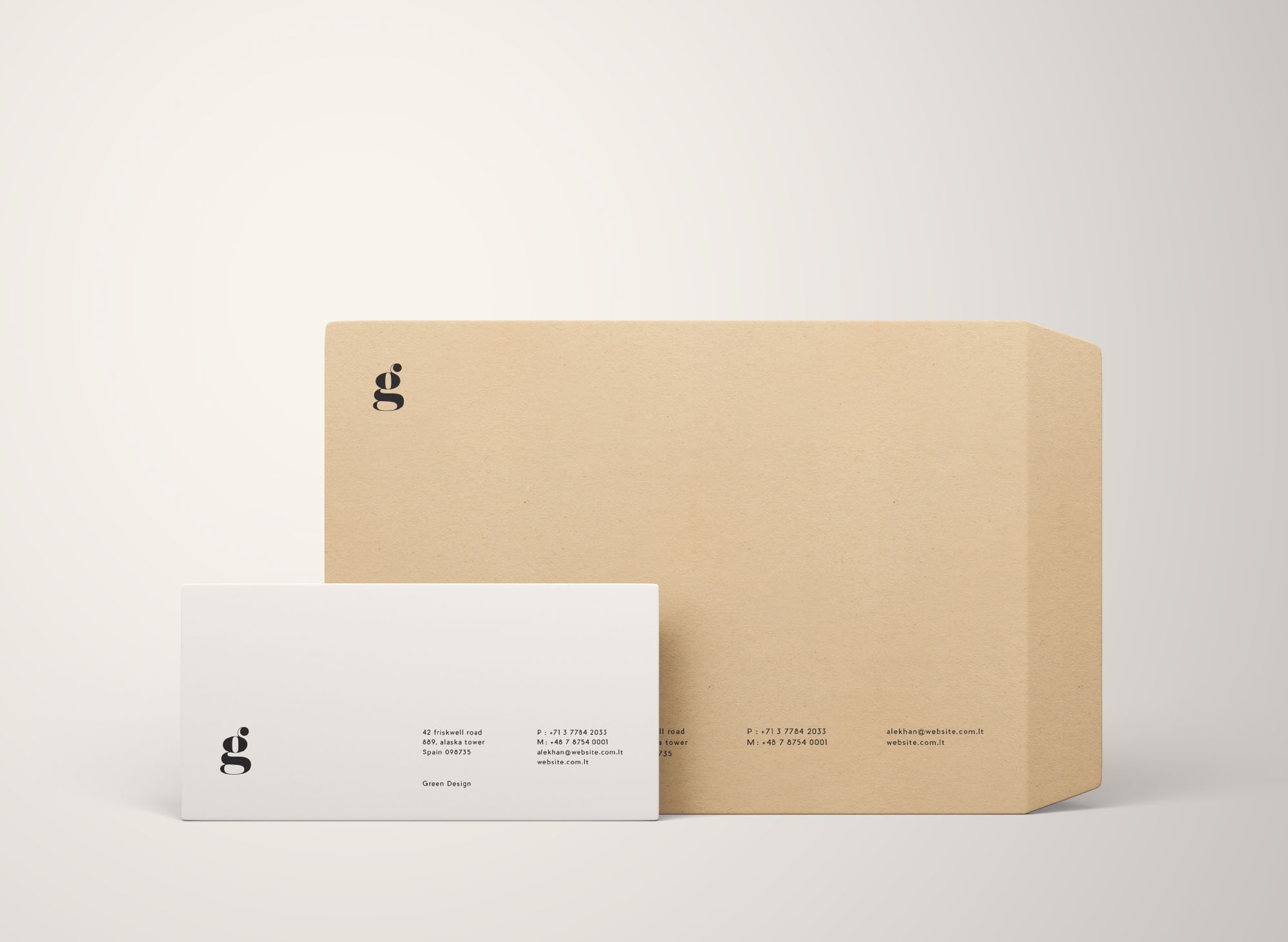Two Size Envelope Mockups Psd