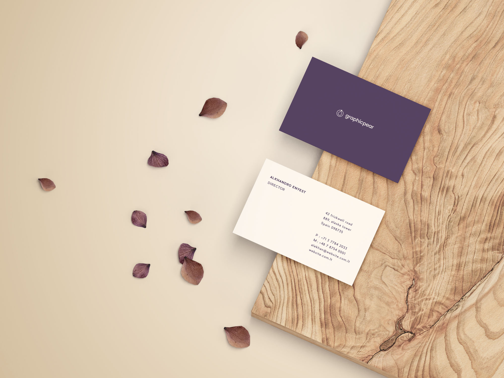 Front & Back Business Card Mockup
