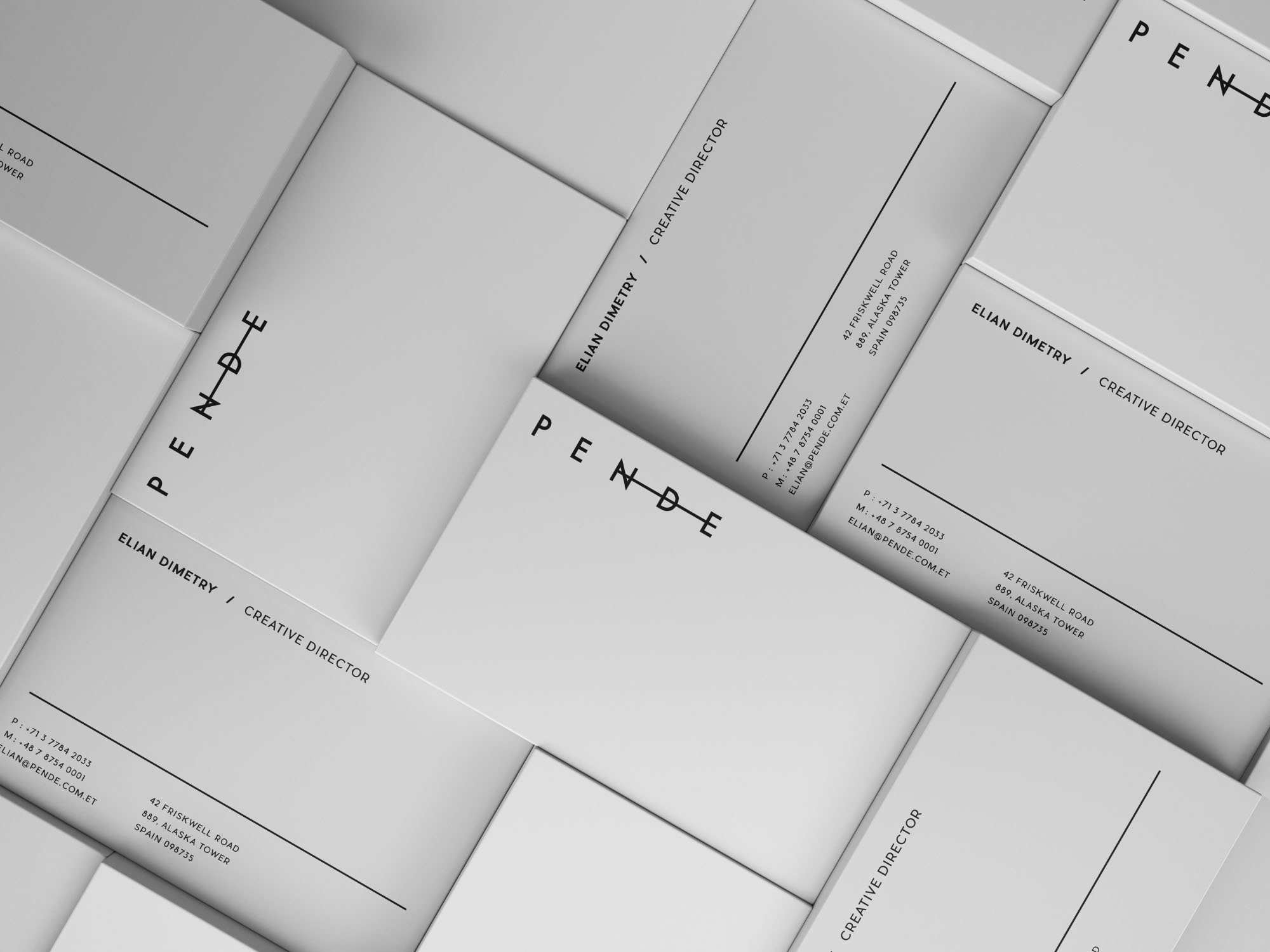 Horizontal & Vertical Business Cards Mockup