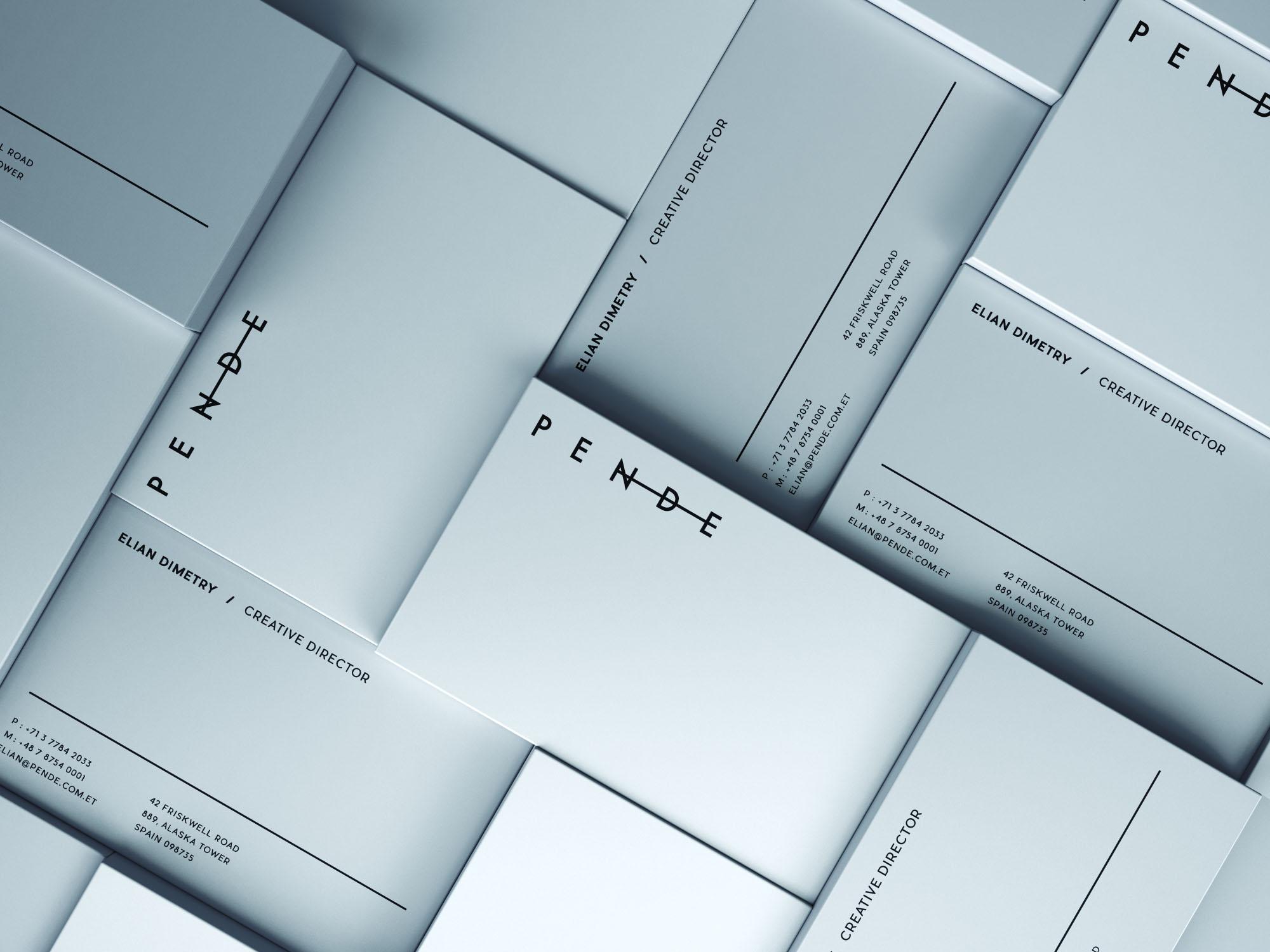 Business Card Mockup - Blue
