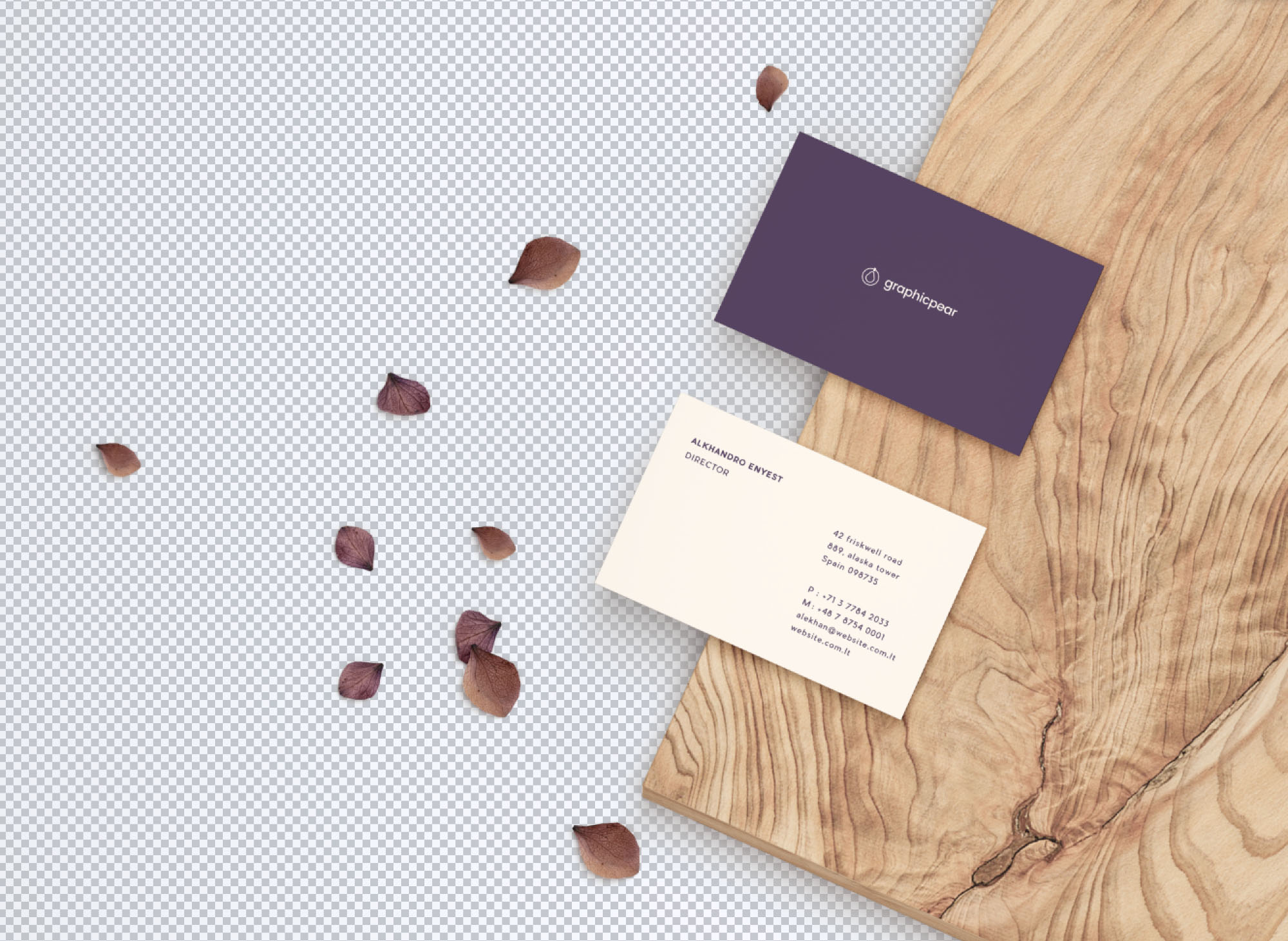 Business Card Mockup - Transparent