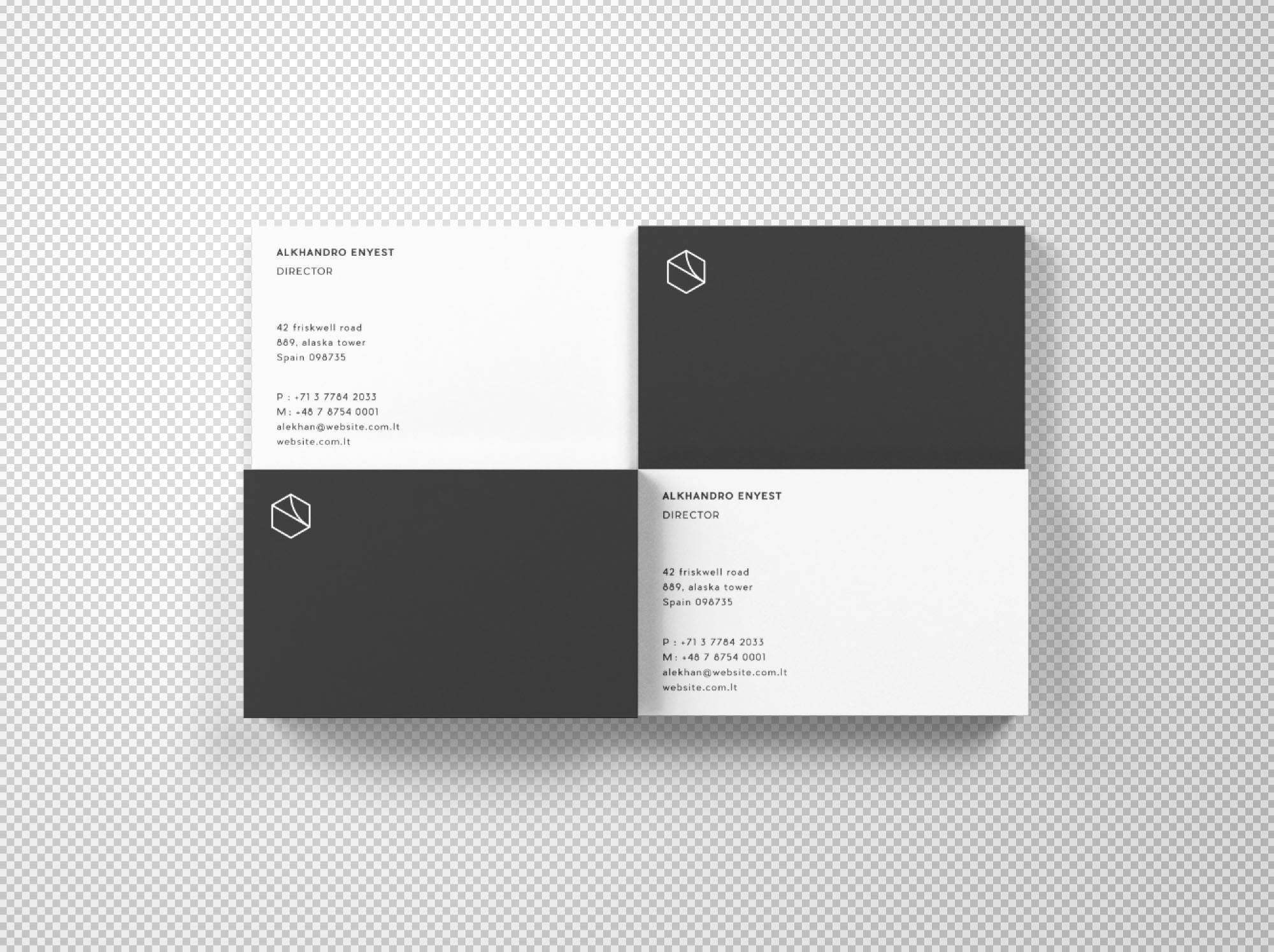 Business Cards Mockup Top View