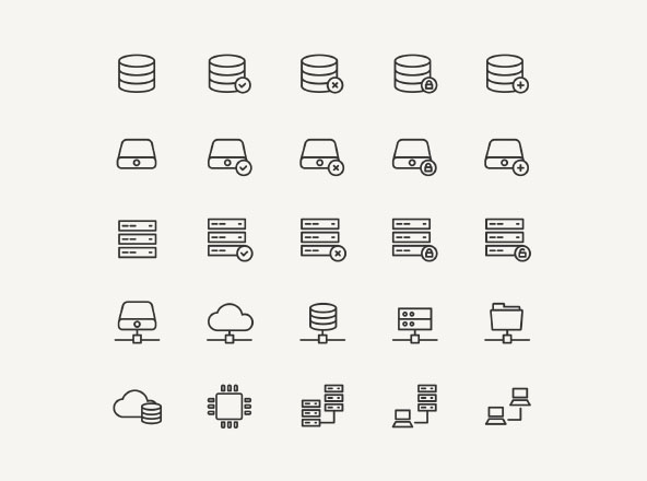 Database Storage Icons