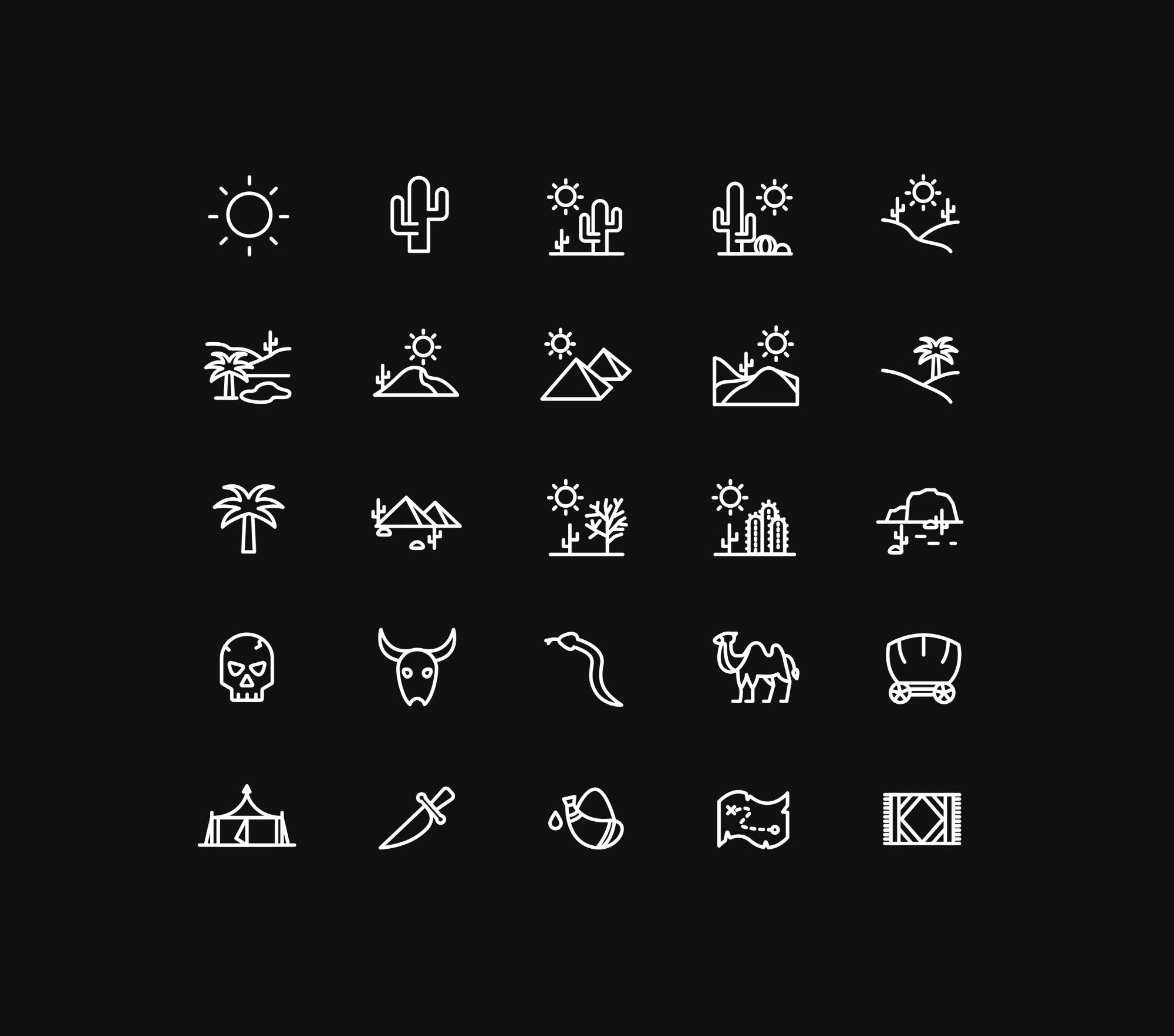 Desert Icons - Dark