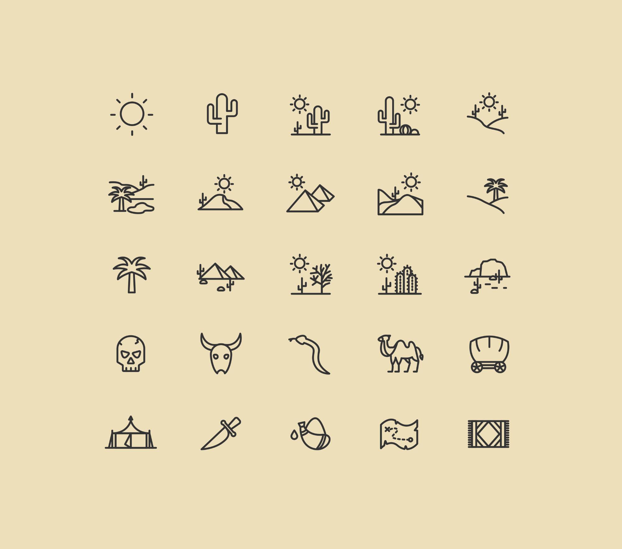 25 Desert Icons