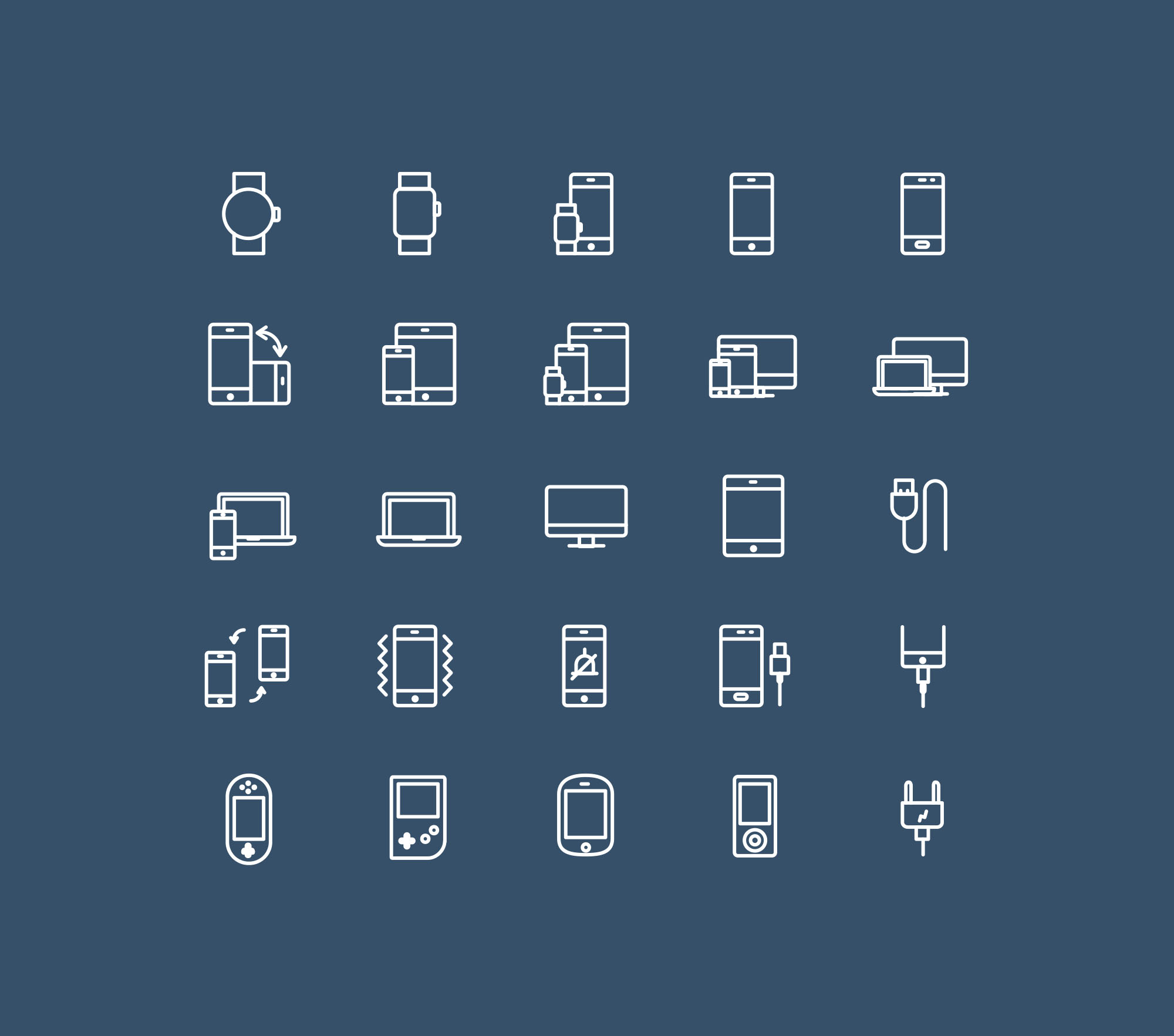 Vector Device Icons - Dark