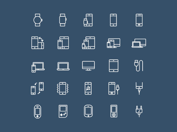 25 Device Icons