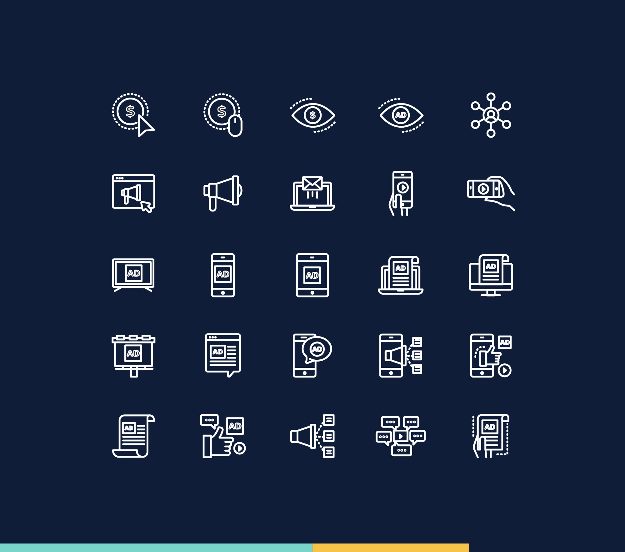 Digital Marketing Icons - Colored