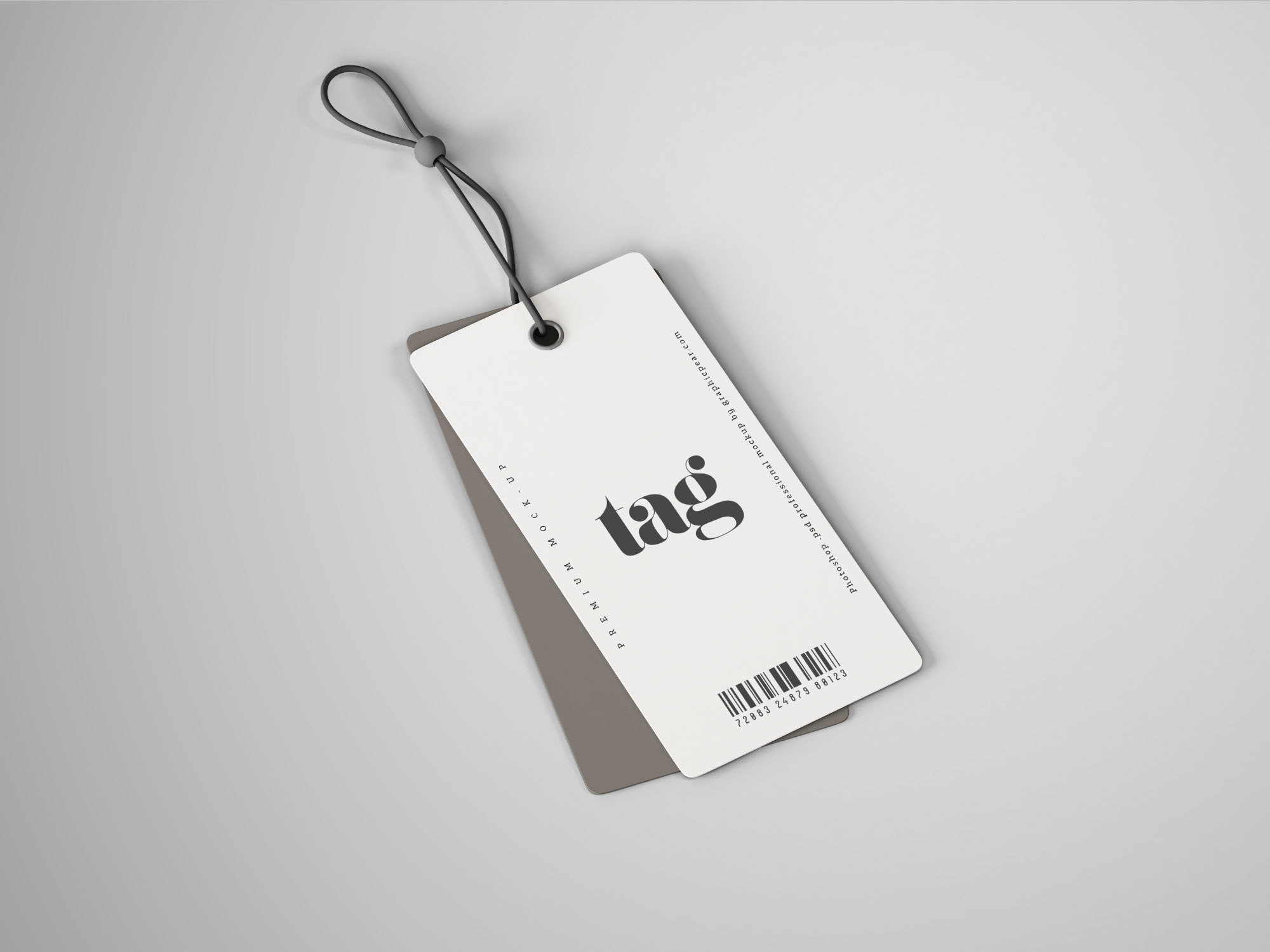 clothes double tag mockup psd