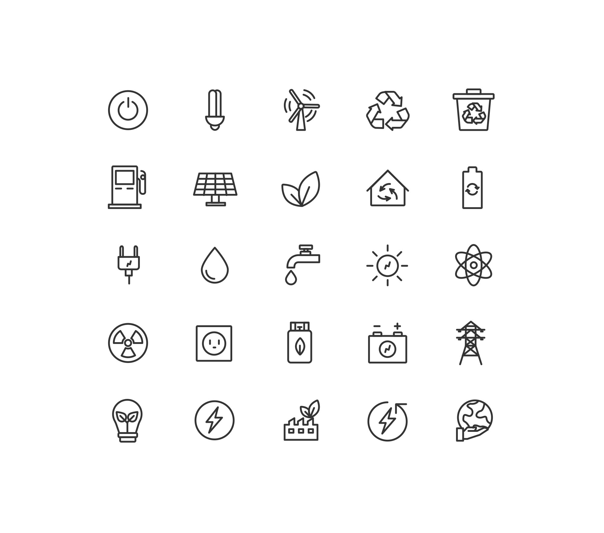 Energy & Ecology Icons - Basic