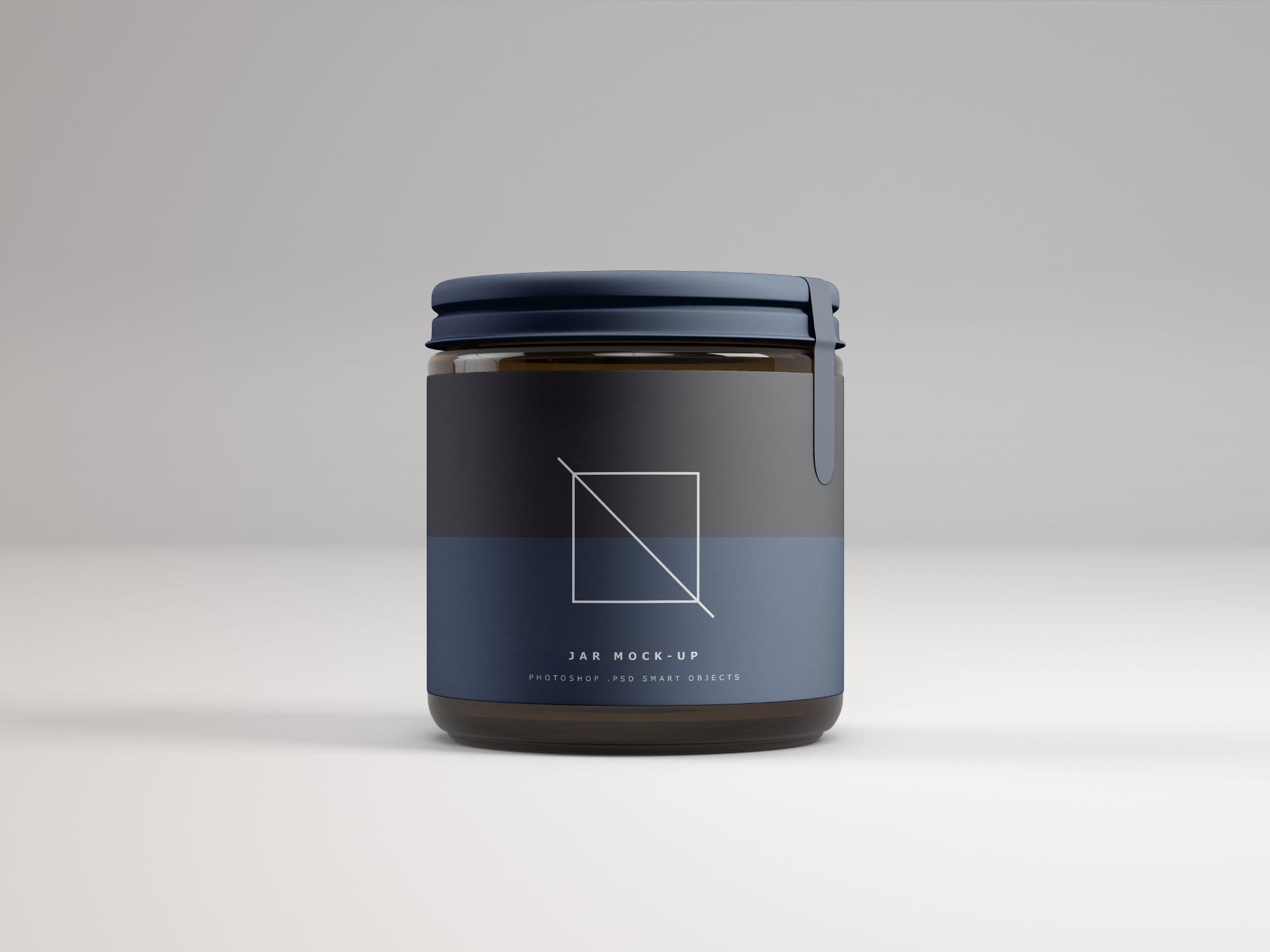 Front Jar Mockup Dark