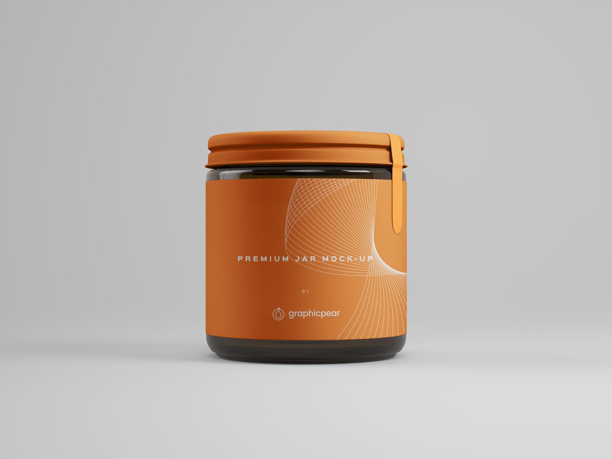 Front Jar Mockup - Design Template